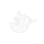 Handpainted rainbow stripe ceramic bowl
